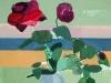 'Carmine Roses & Indian Rug'